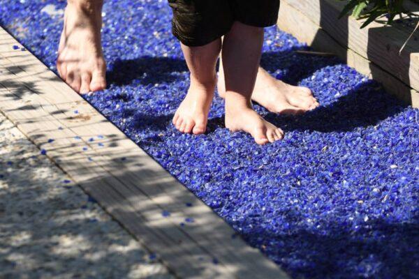 parcours jardin pieds sensoriel