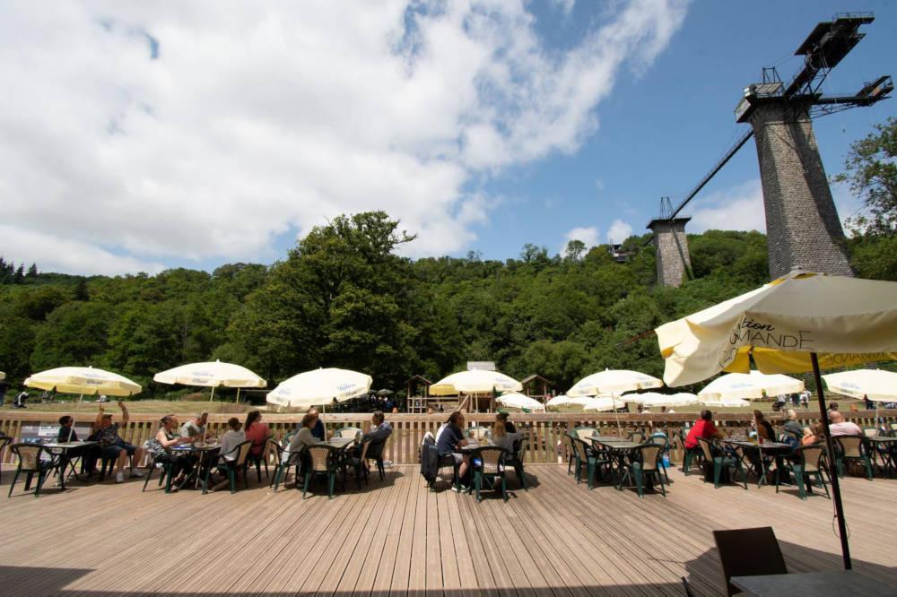 Terrasse du restaurant Normandie Luge